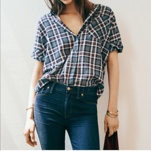 Madewell x J.Crew Courier Plaid Button Down.